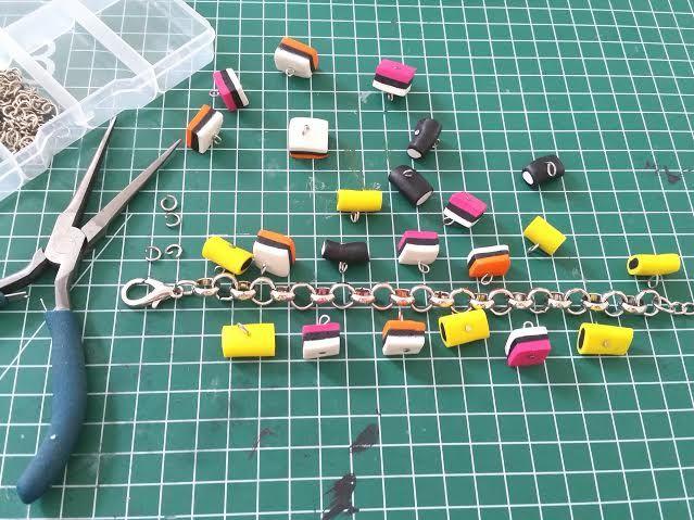 DIY armband maken van engelse dropjes