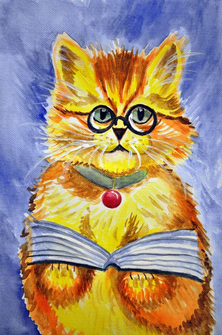 Kot czyta bajkę :) Agata W-B