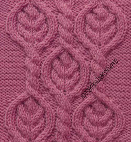 Узор 713 косы в ромбах | каталог вязаных спицами узоров | вязание-узоры | Постила