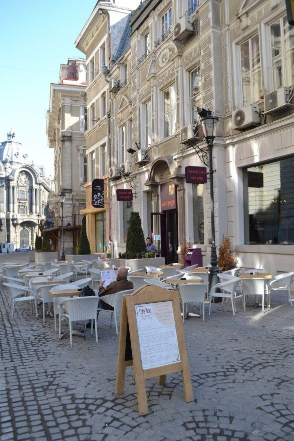 Cafe in Bucharest.