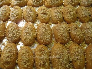 Step by Step guide to making all kinds of unusual Greek Cookies. This is Finika, a honey drenched cookie. Courtesy of Kukla's Kouzina.