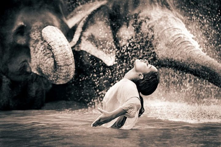 Blurring the Lines Between Animals and Mankind: Snow Photography, Canada, Water Fun, Water For Elephants, Peace, Gregory Colbert, Snow Art, Gregorycolbert, Animal