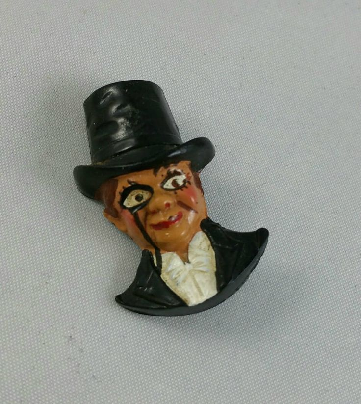 Vintage Charlie McCarthy Celluloid Brooch, 1930's Ventriloquist Dummy Pin, 1930's Jewelry by EmptyNestVintage on Etsy