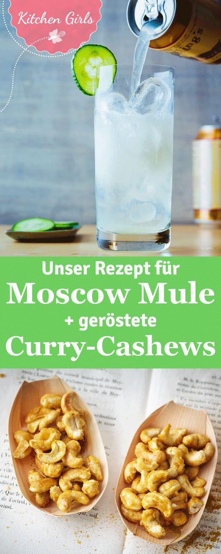 Foodblog-Rezept für Moscow Mule und geröstete Curry-Cashew-Kerne