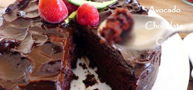 Vegan  Avocado Chocolate Cake