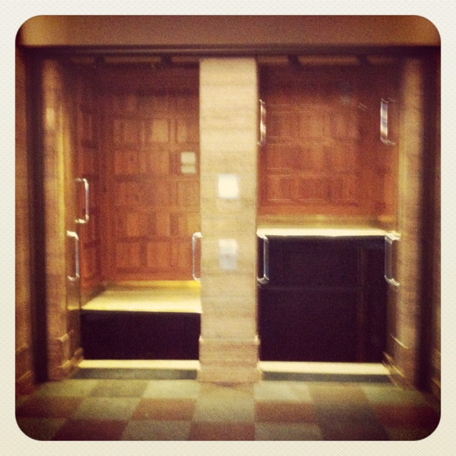 Paternoster elevator in Copenhagen.