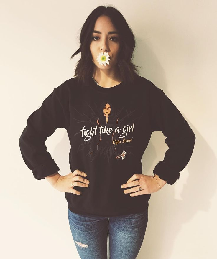 You guys it's HERE! My Sweater/t-shirt design with REPRESENT. All the proceeds go to help send doctors down to Haiti/Dominican Republic. it's the perfect time to buy a Christmas present for you orrrrr your loved one who lovessss #agentsofshield and helping others! LINK IN BIO! #fightlikeaGIRL