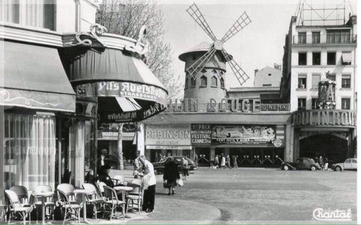Paris, 1950 - Moulin Rouge #paris #moulinrouge