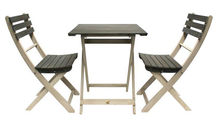 Imágenes del conjunto de mesas y sillas para terrazas Santa Cruz