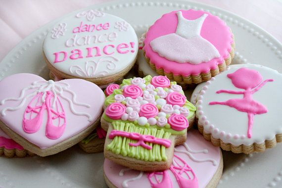 One dozen 12 DANCE RECITAL Themed Sugar Cookies by ColorMeCookies