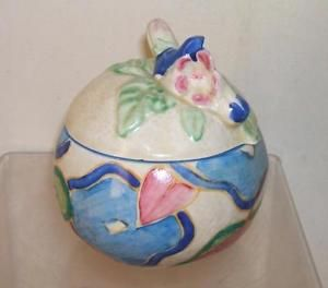 CLARICE-CLIFF-BLUE-CHINTZ-PRESERVE-JAM-POT
