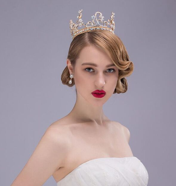 Luxury bridal headdress hairband with comb crystal pearl gold crown headwear women's head decoration wedding hair accessories-in Hair Jewelry from Jewelry & Accessories on Aliexpress.com | Alibaba Group