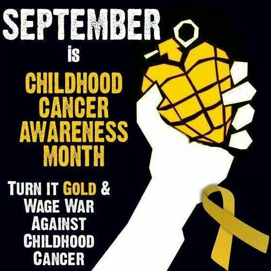 Childhood Cancer Month is the month of my birthday