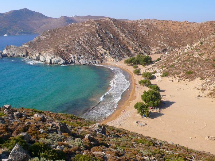 Psili Ammos beach in Patmos island