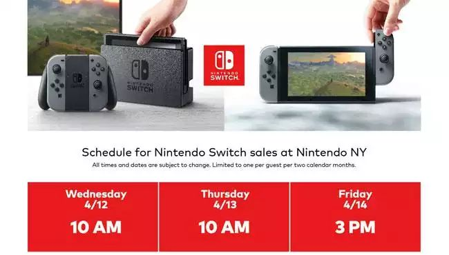 Nintendo Switch In Stock Again at Nintendo Store Starting April 12
