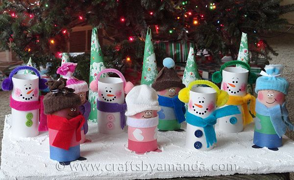 Cardboard tubes are one of my favorite mediums. They are definitely readily available and I always have some in my supply stash. They are easy to transform into fun little characters, and that's exactly what I was thinking when I came up with this little snow scene. Do you remember building snowmen with your friends?Read More »