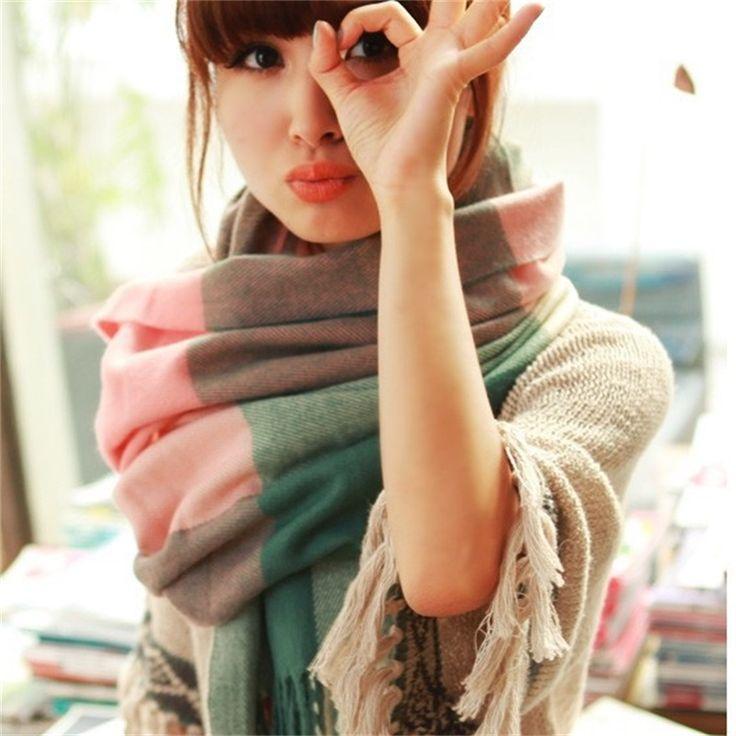 Lane di modo di inverno sciarpa donne spagna sciarpa desigual plaid di spessore di marca scialli e sciarpe per le donne