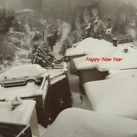 HAPPY NEW YEAR 2015 With snow at Lions Nine