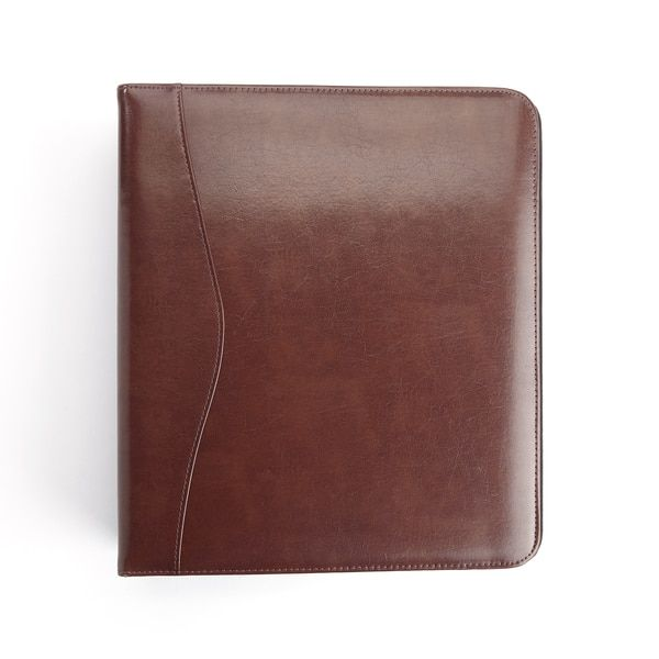Royce Leather Brown Leather 2-inch Executive D-ring Binder