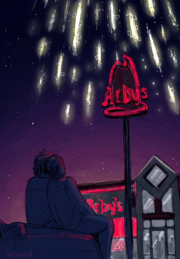 Welcome to Welcome to Night Vale. Cecil and Carlos, in the parking lot, behind the Arby's, looking at the lights.