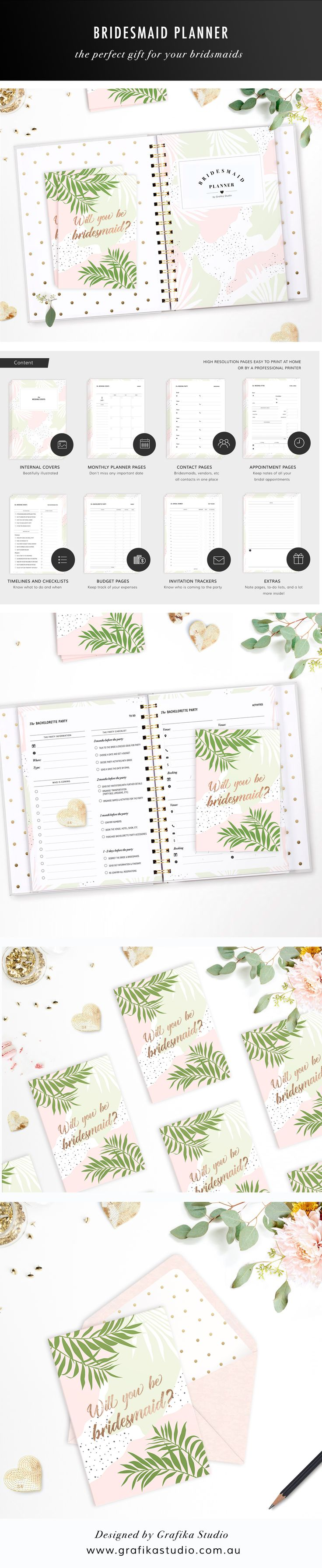 Bridesmaid Planner • Maid of Honour Planner • Maid of Honor Planner • Printable Planner • Bridesmaid Gift • Maid of Honour Gift • Maid of Honor Gift • Bridal Planner • Wedding Planner • Wedding organiser • Wedding organiser • Bridesmaid proposal card • Maid of Honour proposal card • Maid of Honor proposal card