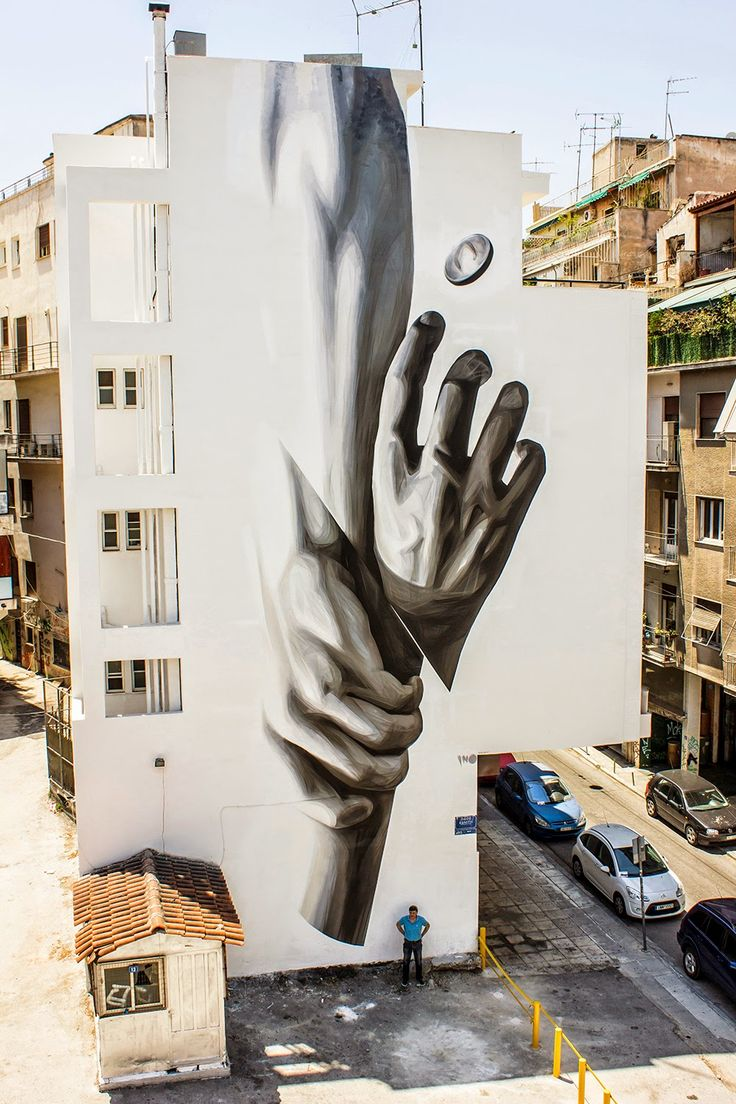 "iNO ""Wake Up"" New Mural - Athens, Greece"