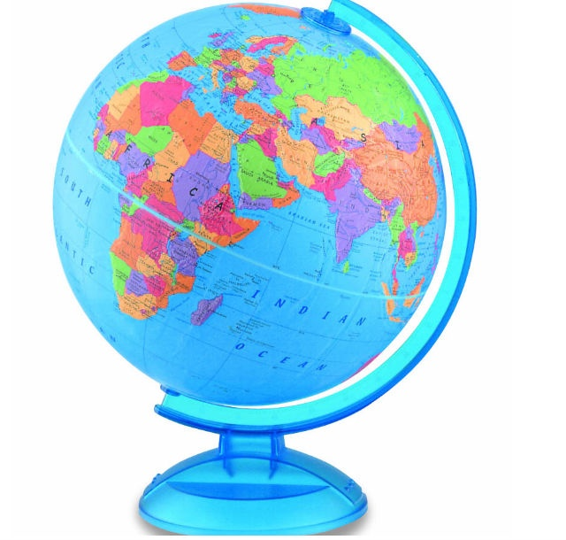 13 best world maps images on pinterest maps map of nyc and new a raised relief blue ocean ball with vivid colors easy to find geographic locations and a durable plastic base complete this gumiabroncs Images