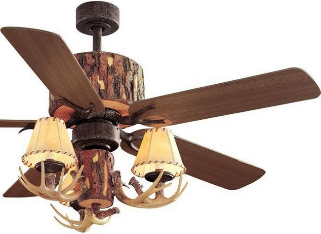 Hampton Bay Yg098 Nm Lodge 52 Rustic Tree Trunk Ceiling Fan With Antler Light Kit And Remote Rustic Ceiling Fa Ceiling Fan Rustic Ceiling Fan Rustic Ceiling