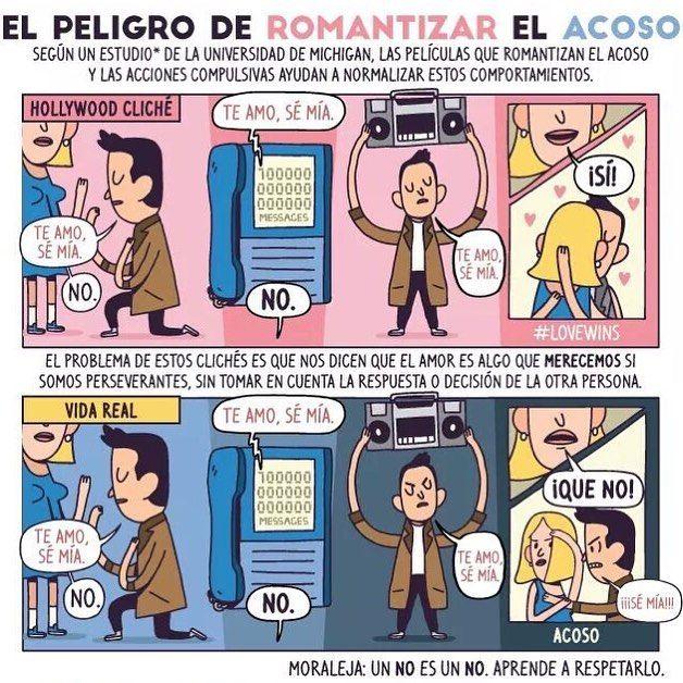 El #peligro de romantizar el #acoso #moraleja: #no SIEMPRE significa NO.