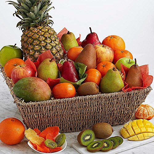 Shari's Berries - Signature Fresh & Dried Fruit Gift Basket - 1 Count - Gourmet Baked Good Gifts     #StPatricksDay #ForHim #ForHer #Holidays #GiftIdeas #Gifts #Affiliate