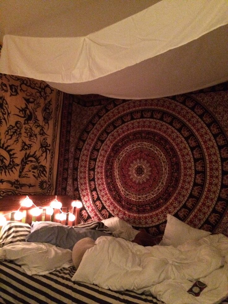 My Teenage Girlu0027s Bedroom. Tapestry From Urban Outfitters. The Yellow Wall  Decor Is Actually