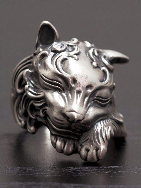 Legio made レギオメイド [眠り猫]。LegioMade[眠り猫](シルバーアクセサリー/シルバーアクセ/シルバー/シルバー925/Silver925/銀/レギオメイド/リング/指輪/メンズ/パーン)