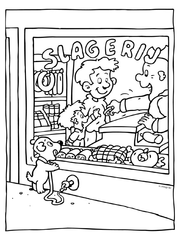 Slagerij - Knutselpagina.nl - knutselen, knutselen en nog eens knutselen.