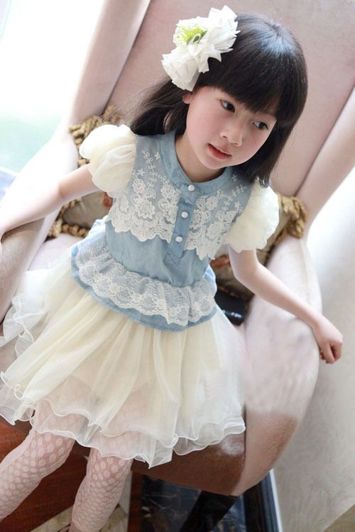Retai,girls princess dress Children's clothing baby girls clothes kids dress girl chiffon dress with lace free shipping US $11.50