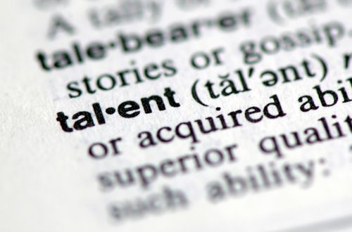 Talent is defined as a natural aptitude or skill. Synonyms include:  flair, aptitude, facility, gift, knack, technique, touch, bent, ability, expertise, capacity, faculty; strength, forte, genius, brilliance; dexterity, skill, artistry  How do you define talent?