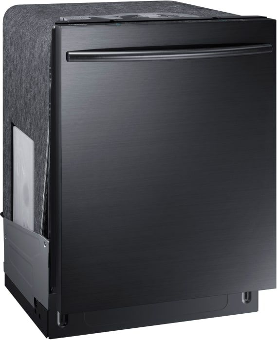 Samsung DW80K7050UG Fully Integrated Dishwasher with 3rd Rack, StormWash™ System, FlexLoad™ Racking System, Autorelease™ Door, 15 Place Setting Capacity, Digital Leak Sensor, 44 dBA Sound Level and ENERGY STAR® Rated: Black Stainless Steel