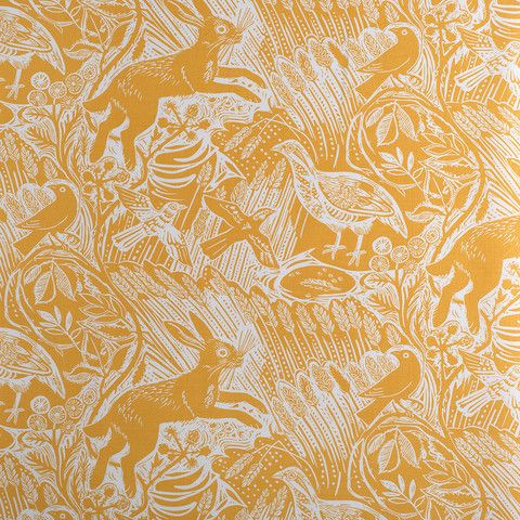 Harvest Hare fabric. Love this, 3 colour ways available. Think this would suit the old chair!
