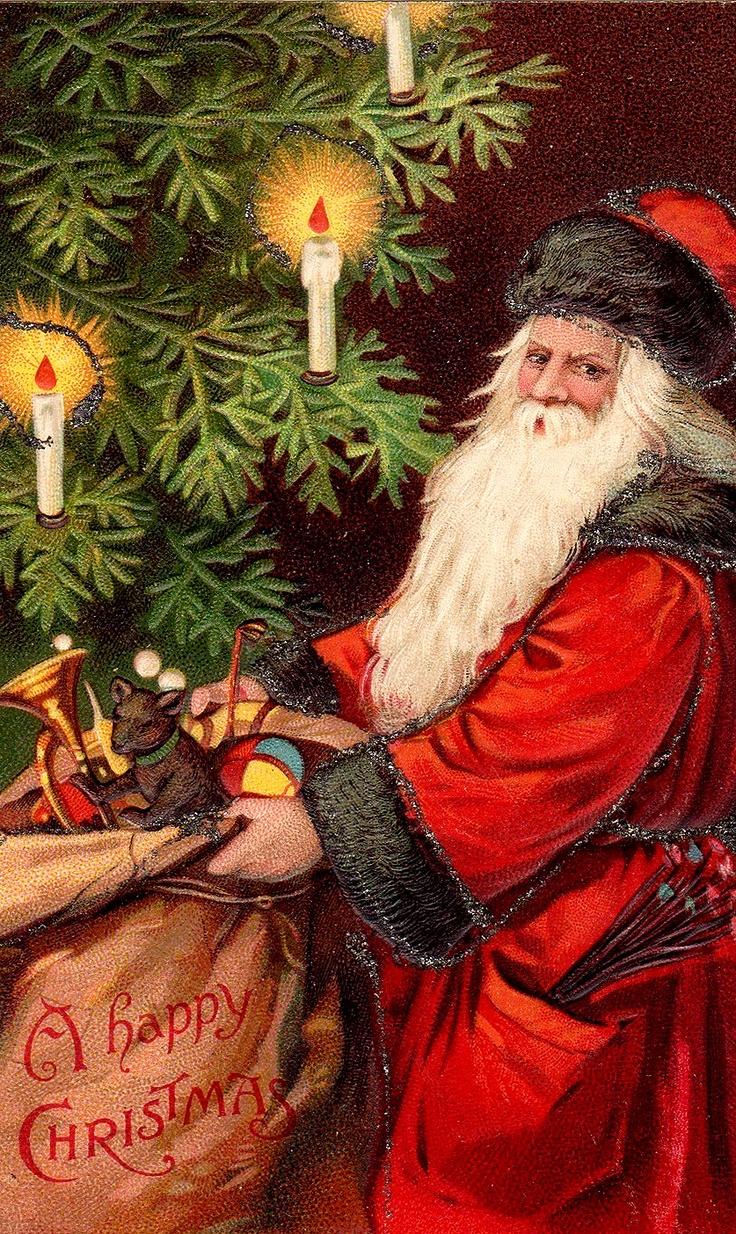 Vintage Santa Clause card.