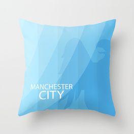 Manchester City Throw Pillow
