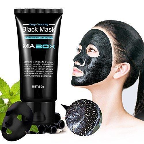 Mabox Blackhead Remover Mask Blackhead Cleansing Mask Cleaner Face Mask/Deep Clean Blackhead/Farewell Strawberry Nose/Blackhead Killer Facial Masks Black 50ml