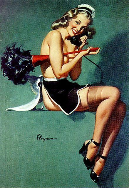 "Gil Elvgren ""I Gave Him the Brush-Off"" 1947"