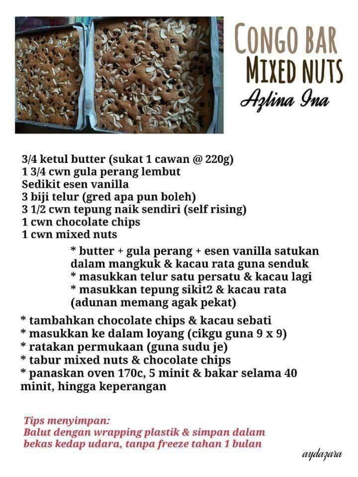 Resepi Biskut Raya Azlina Ina Chocolate Chip Recipes Easy Vanilla Cake Recipe Cake Baking Recipes