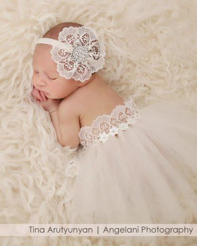 Lace Headband with Matching Tutu (Set) for Babies First Pictures, Photo Prop (Newborn, Ivory) Chic Crystals,http://www.amazon.com/dp/B00IJTV65W/ref=cm_sw_r_pi_dp_skdvtb0Z75FB5RZ0