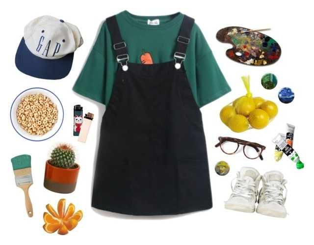 """""""E.V.I.L."""" by kampow ❤ liked on Polyvore featuring Pier 1 Imports, Cutler and Gross, PLANT and Converse"""