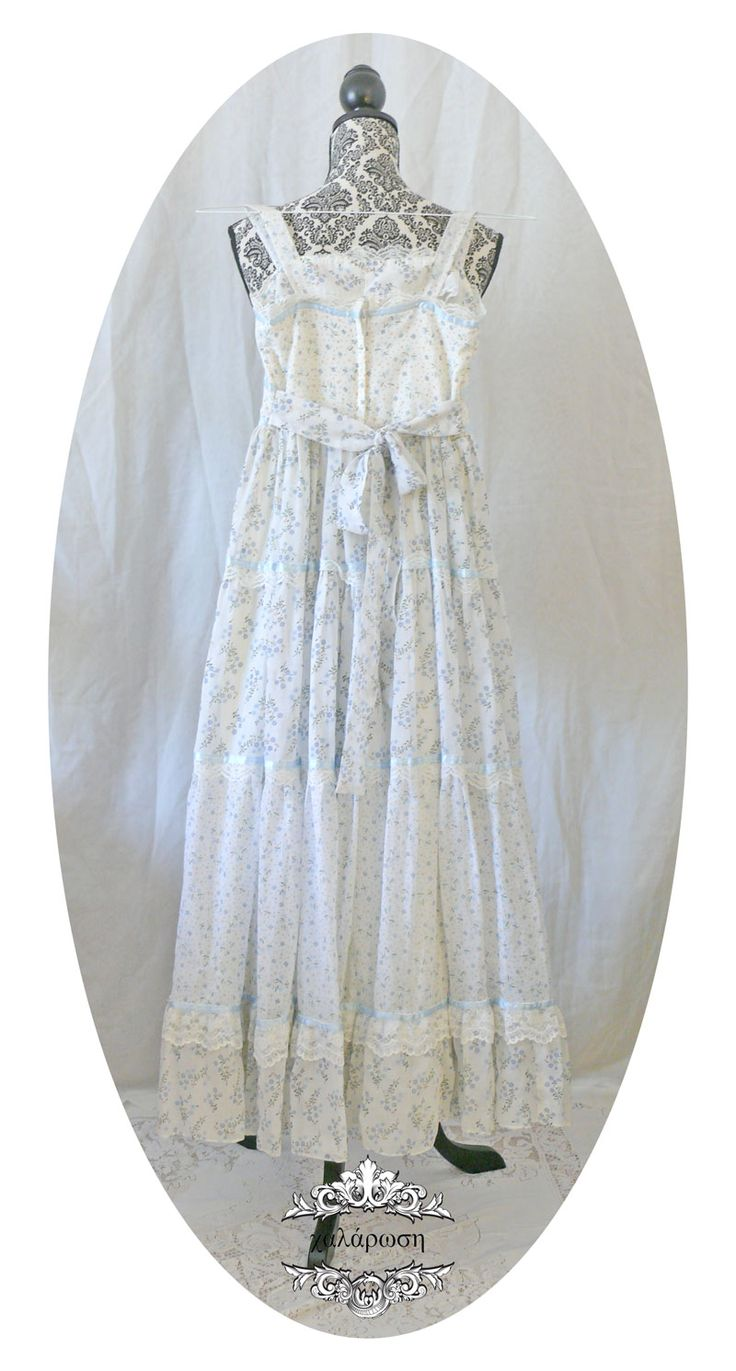 Vintage Gunne Sax Blue Calico Sundress sold by chalárosi. Shop more products from chalárosi on Storenvy, the home of independent small businesses all over the world.