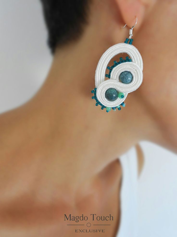 One of a kind soutache earrings. From collection 'Box of Chocolates'. #magdotouch #artistic #jewelry #soutache #earrings