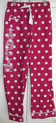 Boxercraft Pajamas PJs Girls Pants Pink White Polka Dot Trampoline Size 10 12 js