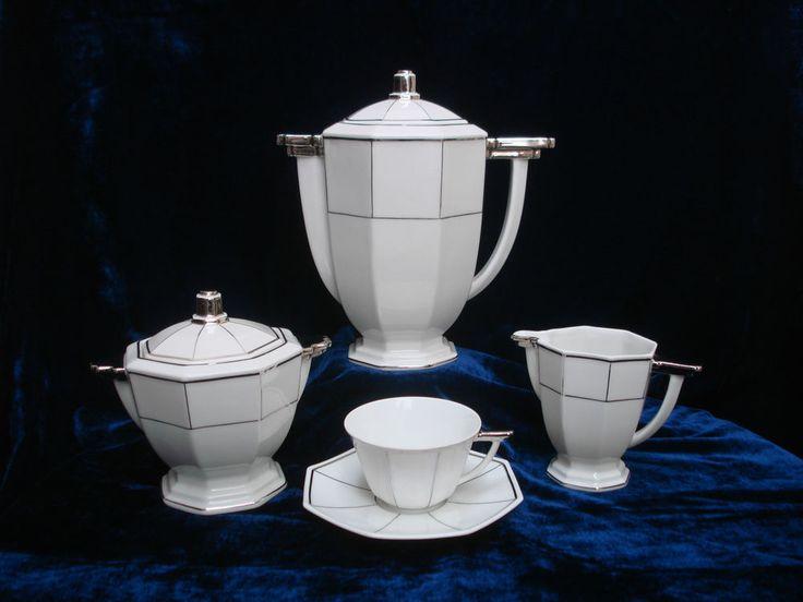 Service Art déco TLB porcelaine Limoges 6 tasses années 1930  | eBay
