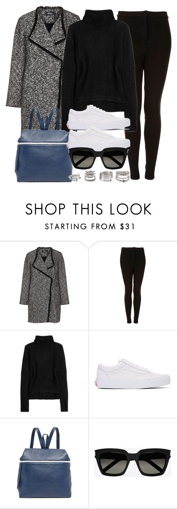 """""""Style #11714"""" by vany-alvarado ❤ liked on Polyvore featuring Elena Mirò, Topshop, T By Alexander Wang, Vans, Kara, Yves Saint Laurent and Forever 21"""
