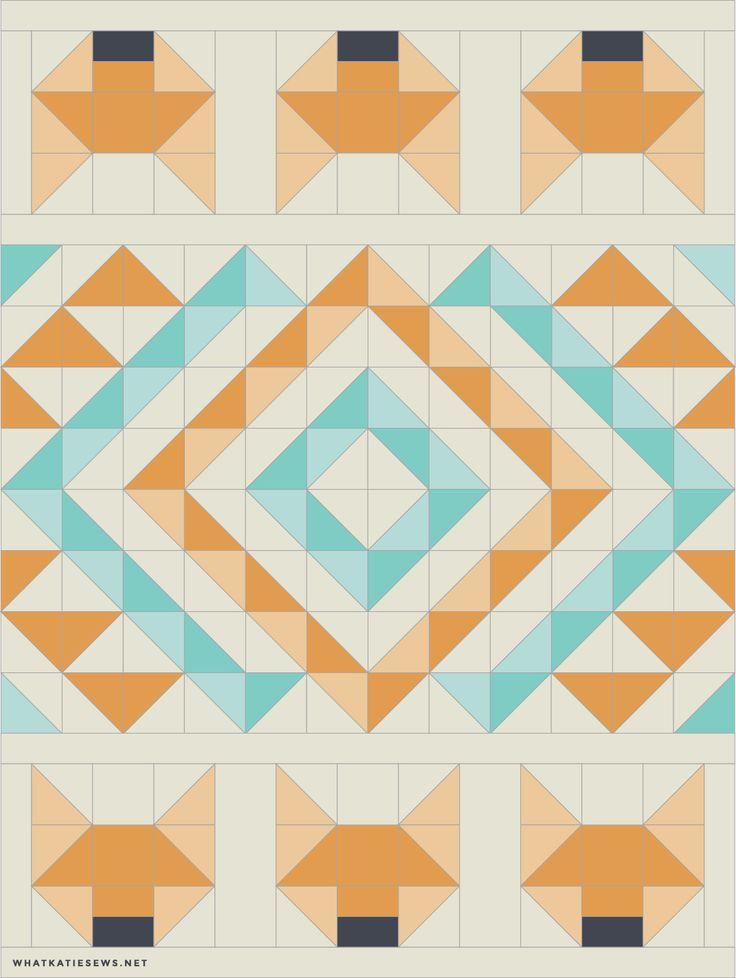 Design your own quilt pattern - fox quilt pattern